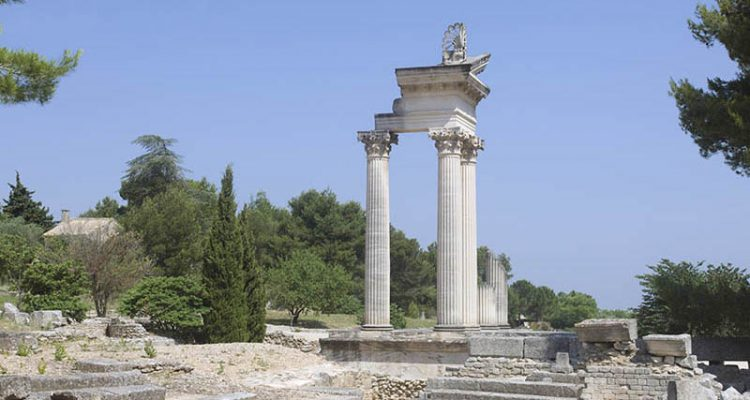 View of Glanum
