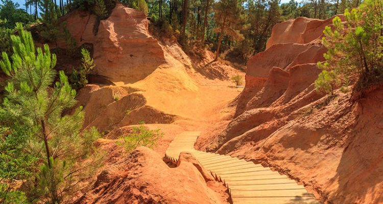 The Ochre Trail, Red Cliffs in Roussillon