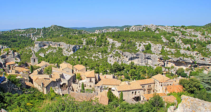 Les baux de provence village, France.