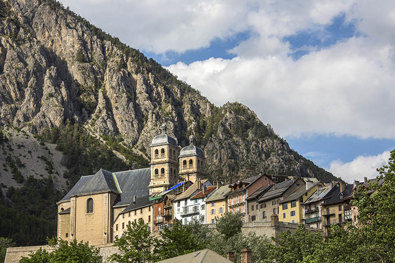 The old fortified city of Briancon in the Provence-Alpes-Côte d'Azur region in southeastern France. At an altitude of 1,326 metres it is the highest city in the European Union.