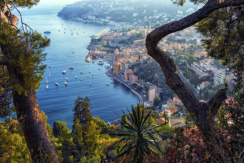 Villefranche sur mer between Nice and Monaco