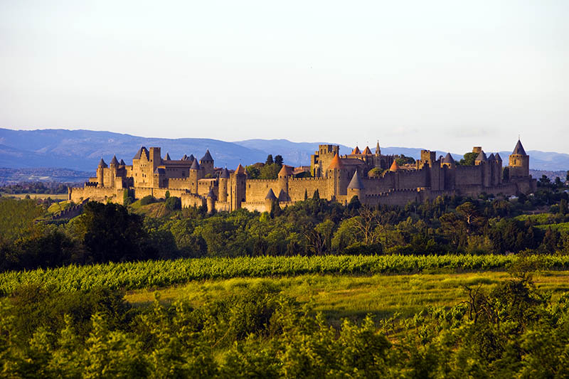 Historic city of Carcassonne in the South of France