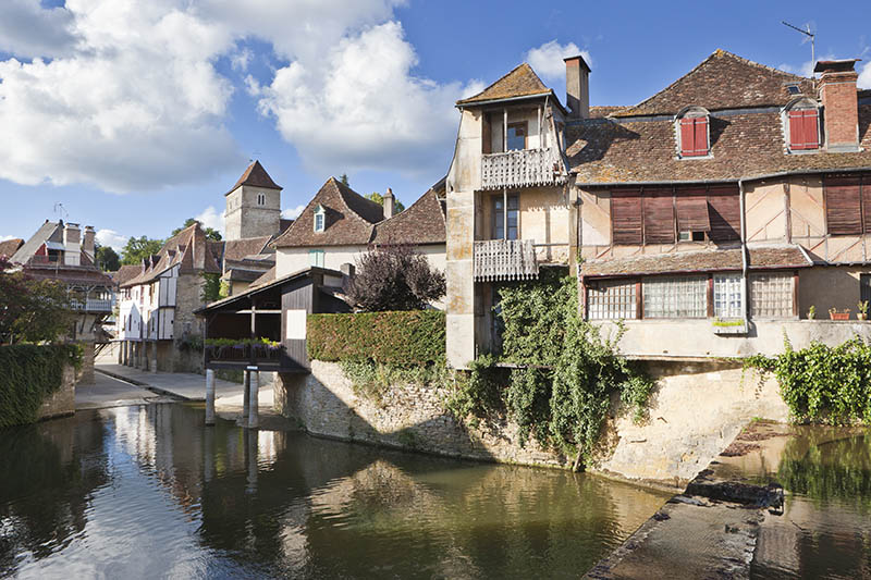 Houses in the city of Salies-de-Béarn. Salies-de-Béarn lies near the Atlantique and the Pyrenees in the south-western part of France. It was starting point of one stage of the famous bicycle race