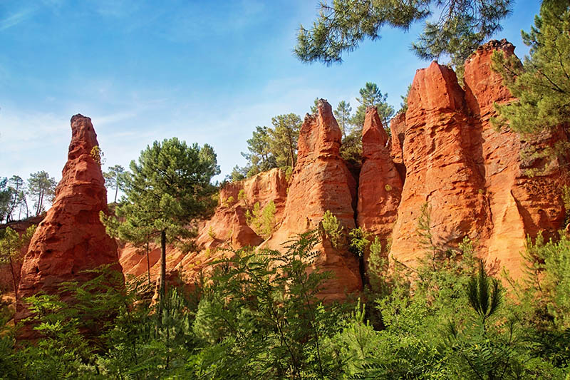 Ochre rocks in Roussillon,Provence