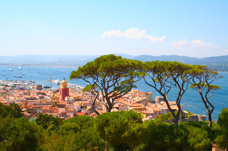 Saint Tropez city in southern France