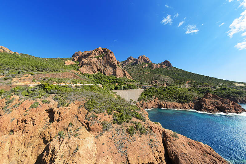 Esterel mountain with blue sky, France