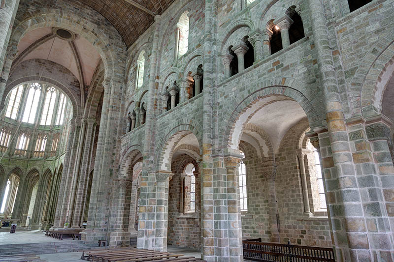 View of the Abbey of the Mont Saint-Michel - department pf the Manche (France)