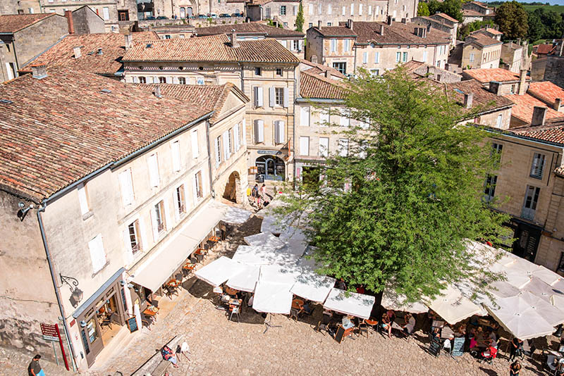 Saint Emilion, France - August 19, 2015: Village of Saint Emilion, famous for its wine, nearBordeaux, France