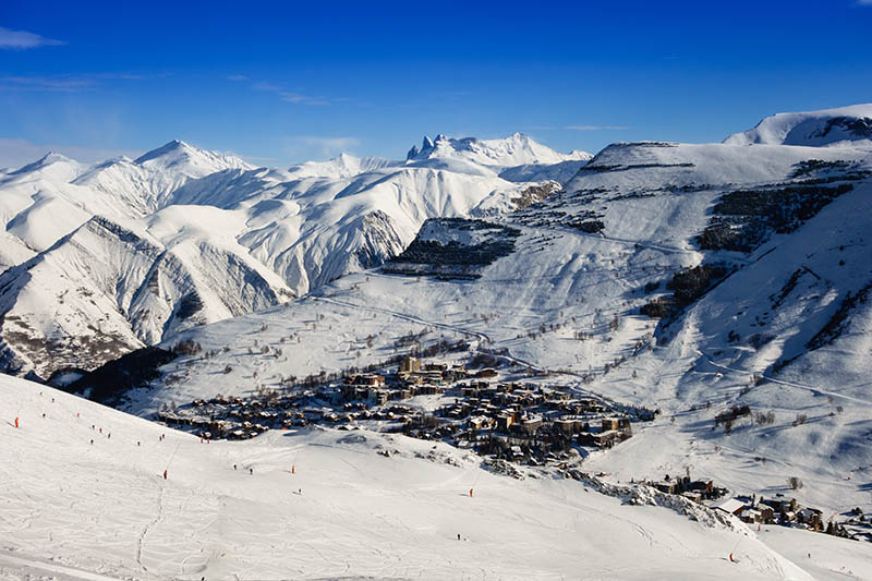 Les Deux Alpes Ski Resort in the French Alps