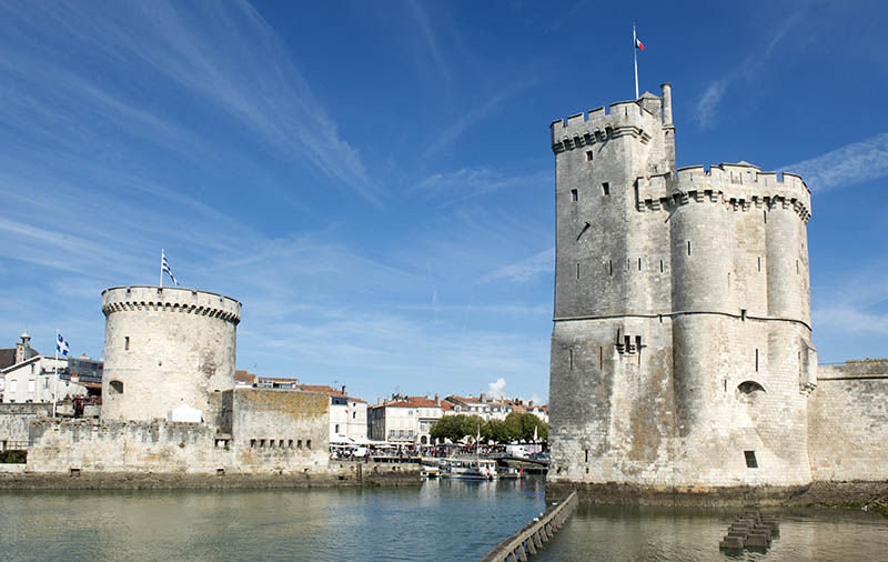 port of La Rochelle a day of autumn