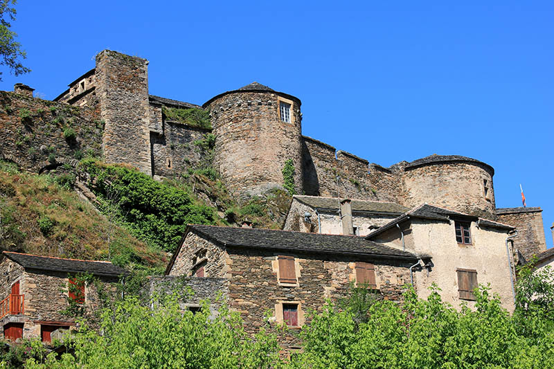 The village of Brousse le chateau, Aveyron, Midi-Pyrénées, France.