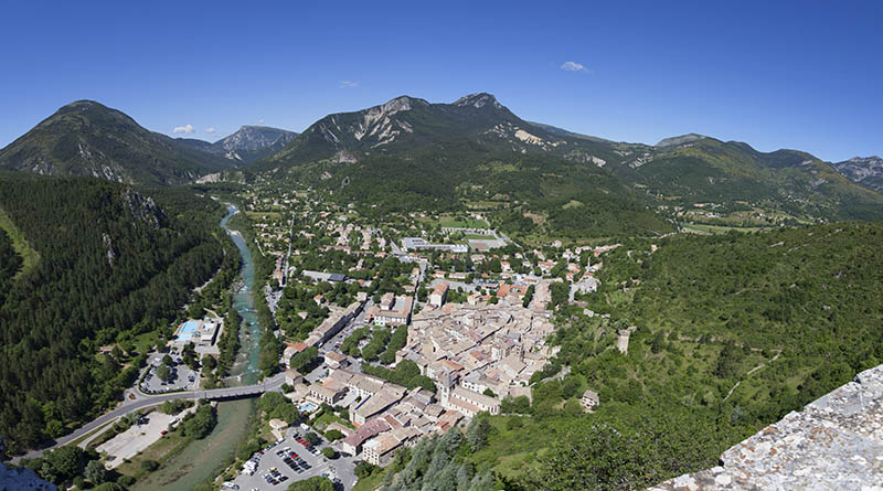 Views of Castellane in the Provence region of France, Europe.