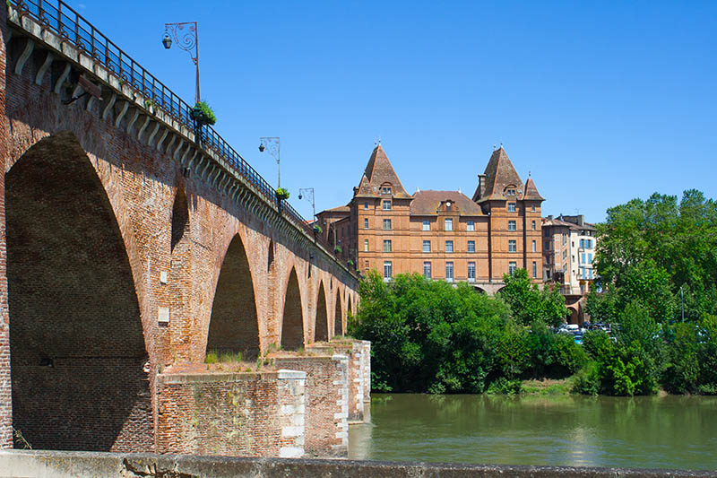 View on the museum of Montauban in France