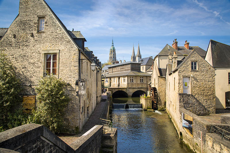 Bayeux is a commune in the Calvados department in Normandy in northwestern France. Bayeux is the home of the Bayeux Tapestry, which depicts the events leading up to the Norman conquest of England.