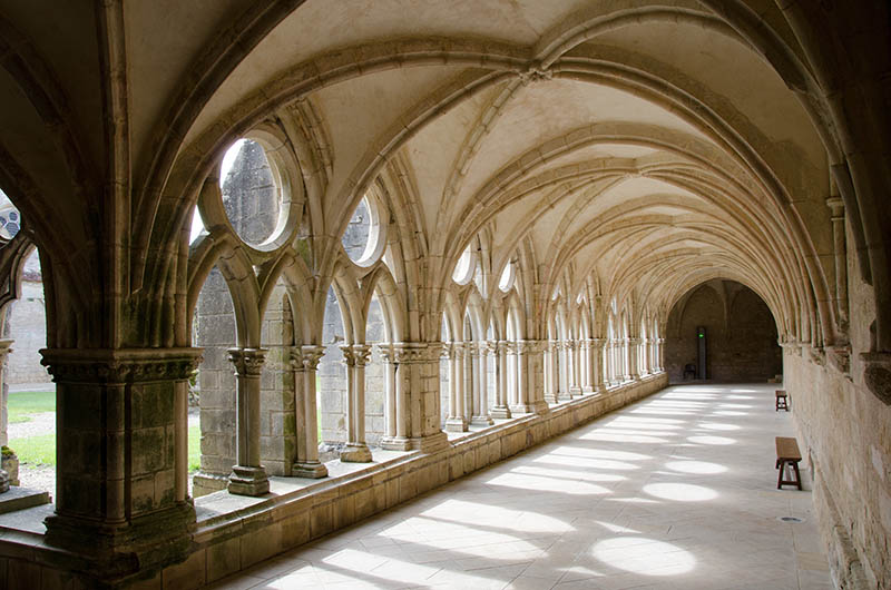 I took this picture in the Noirlac abbey in central France