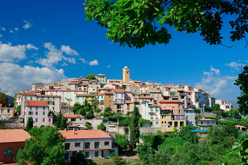 View on Gattieres Alpes-Maritimes France