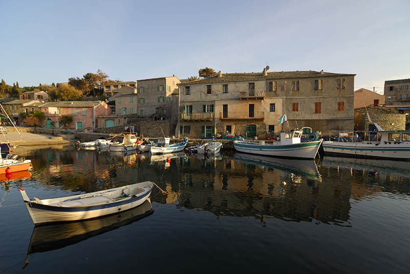 Habour of the small village Centuri port in nothern Corsica near Cape Corse.No sharpening of the picture.