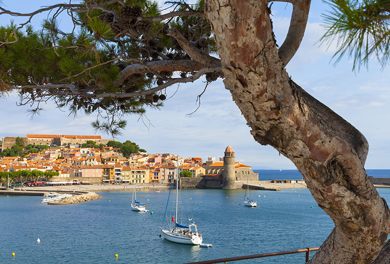 Panoramic view of Collioure, France