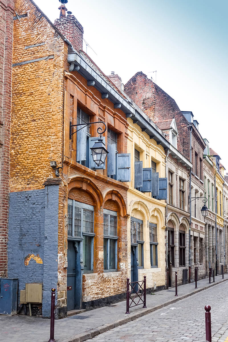 street view of downtown in Lille, France