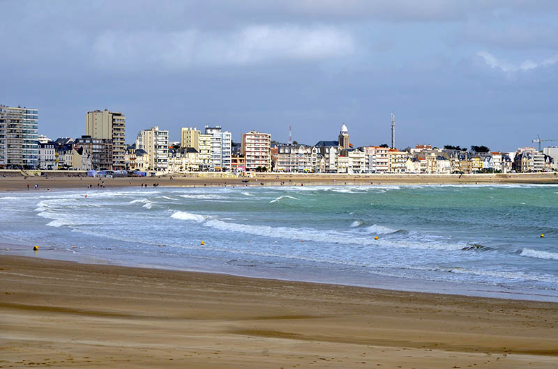 Beache of Les Sables d'Olonne, commune in the Vend?e department in the Pays de la Loire region in western France