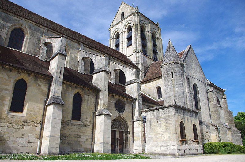 Catholic Church in the small village of Auvers Sur Oise near Paris in France, Europe