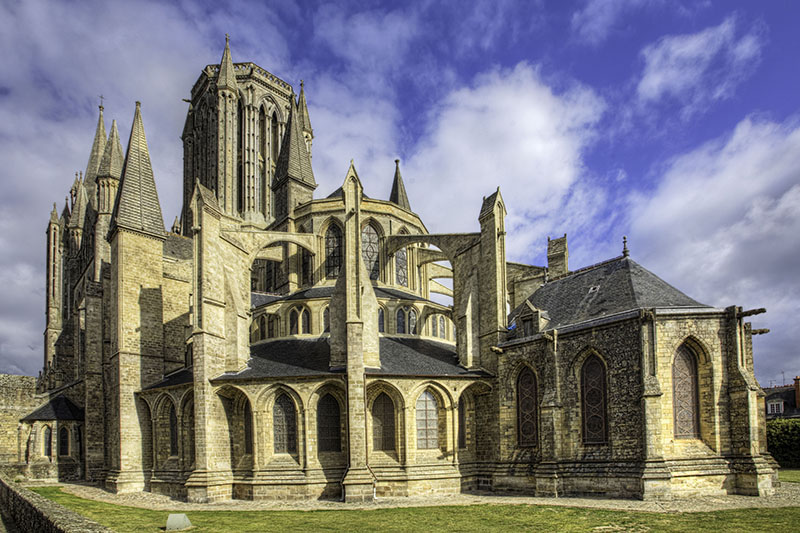 The wonderful cathedral at Coutance, France